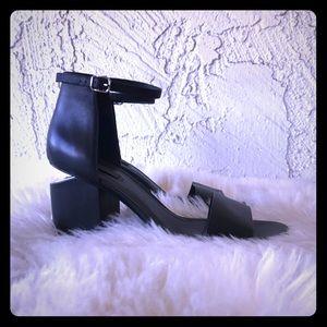 Alexander Wang Metal Heel Black Sandals